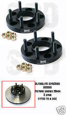 25MM PAIR BOLT ON ULTRALITE WHEEL SPACERS 5x114.3 M12 x 1.25 FITS NISSAN Z0453