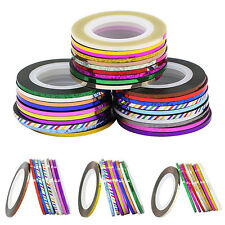 2mm Widened Striping Tape Line Sticker Nail Art UV Gel Tips Rolls 10Pcs Fashion