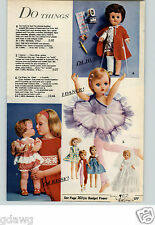1961 PAPER AD Doll Penny Kissy Ideal Toodle-Loo Baby Bunting Sweet Baby Crutches