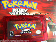 ⇒ UNLOCKED VERSION RUBY RED NEW POKEMON NINTENDO DS GBA