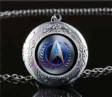 Star Trek Movie Photo Glass Tibet Silver Chain Locket Pendant Necklace