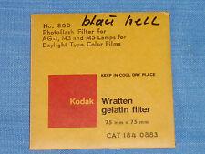 Kodak Wratten Gelatin Filter. 75 x 75 mm. No.80D