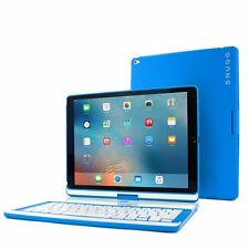 "For Apple iPad Pro 12.9"" Protective Cover Bluetooth Keyboard Case Tablet Blue"