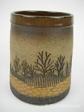 "Pottery Vase Pencil Holder American Studio Artist Handmade ""Ledera"""