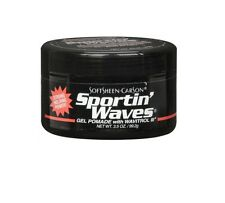 Sportin Waves Gel Per Capelli Brillantina (Nero) 99,4 ml