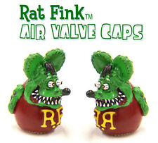 MOON EYES RAT FINK TYRE AIR VALVE CAPS CAR BIKE HOT ROD LOWRIDER KUSTOM