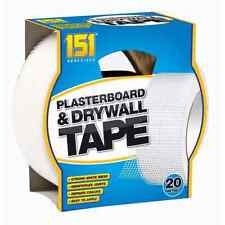 20 Metres Adhesives Plasterboard Drywall Tape Strong White Mesh Repairs Cracks