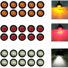 "30X Red / Amber / White Mini 12V 3/4"" Round Side LED Marker Trailer Bullet Light"