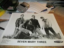 SEVEN MARY THREE PROMOTION PHOTO VINTAGE  90'S PROMO SHOT 8 X 10 COLLECTABLE