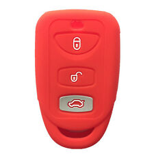 Red 3 BTN Silicone Smart Key Fob Case Cover Soft Skin Key Cover fit for Kia