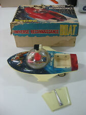 VINTAGE 60'S UNIVERSE RECONNAISSANCE BOAT BATTERY TOY MADE IN RED CHINA-WORKING