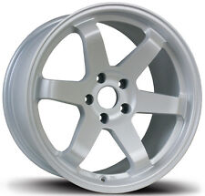 AVID.1 AV-06 17X9 WHEELS 5X114.3 +42 MATTE WHITE RIM FITS VELOSTER MAZDA SPEED 3