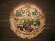 Brand New Large Burgundy France Souvenir Collectible Plate