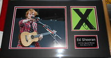 ED SHEERAN personally signed CD cover, mounted and matted 18x11