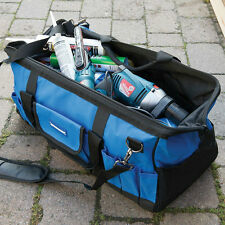 Heavy Duty Carrier Tool Storage Bag Case Canvas Tote Hard Base Strap Toolbag