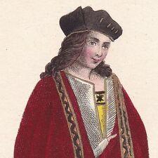 Portrait XIXe Odet de Foix Ariège Maréchal de Lautrec Renaissance Italie