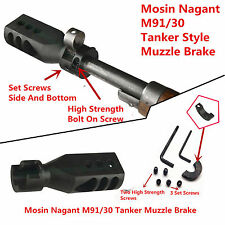 Mosin Nagant 91/30 Bolt on Tanker Style Muzzle Brake Triangular Baffles