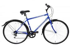"METROPOLITAN 700C WHEEL 6 SPEED MENS HYBRID CITY BIKE BLUE 19"" FRAME & MUDGUARDS"