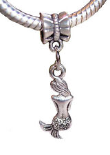 Mermaid Back Ocean Siren Legend European Dangle Bead for Silver Charm Bracelet