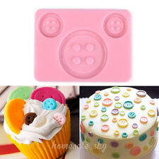 Button Silicone Mold Fondant Cake Decorating Cooking Tools Sugarpaste Cupcake