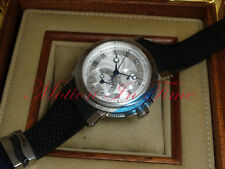 Breguet Marine Automatic Dual Time Stainless Steel 42mm On Rubber 5857ST/12/5ZU