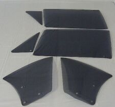 1963 -1965 CHEVY II NOVA 2DR HT 6 PC  SIDE GLASS SET IN SMOKED GREY