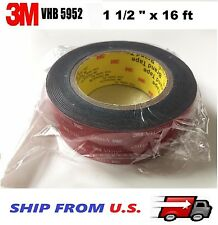 "3M 1.5"" x 16 ft  VHB Double Sided Foam Adhesive Tape 5952 Automotive Mounting"