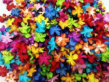 100 Mixed multi-color Flowers mulberry paper for Craft & D.I.Y