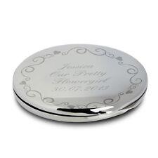Personalizzata decorata Swirl COMPACT SPECCHIO compleanno regali per le donne p0102r79