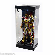 "Acrylic Display Case LED Light Box for 12"" 1/6 Scale IRON MAN TONY STARK Figure"