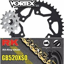 03 04 05 06 CBR600RR Vortex RK 520XSO 15/43T Steel Sprocket & Chain Kit Honda