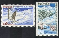 Andorra 1966 Winter Sports/Skiing/Chair Lift/Tourism/Animation 2v set (n39125)