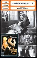 COMMENT QU'ELLE EST - Constantine,Brion(Fiche Cinéma) 1960 - Woman Are Like That