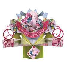 Happy Birthday Birds Pop-Up Greeting Card Original Second Nature 3D Pop Up Cards
