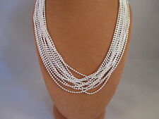 UK Jewellery Wholesale 12 Pieces of 16 inch Silver  Ball Bead Necklace Chains