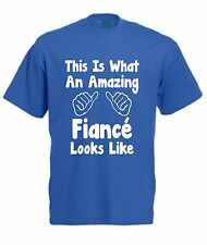 THIS IS WHAT AN AMAZING FIANCÉ LOOKS LIKE T-SHIRT Valentines Day Christmas Gift