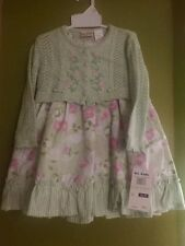 NWT b.t. kids Easter Spring toddler dress with sweater 2T