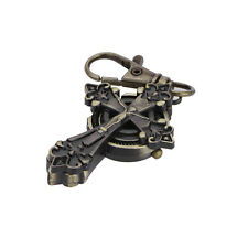Fashion Bronze Gothic Cross Key Ring Quartz Watch Men Boy Lady Women Girl Unisex