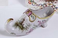 French Faience Soft Paste Porcelain Shoe Joseph Gaspard Robert 18th Century