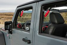 GraBars REAR ONLY Grab Bars with Red Grips 07-16 Jeep Wrangler JK 4 Door 1004R
