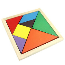 Toys Tangram Spiel Platzierungsspiele Holz Puzzle Board for Kids 7 Parts