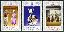 Solomon Islands 345-347, MI 331-333, MNH. QE II Silver Jubilee of the Reign,1977