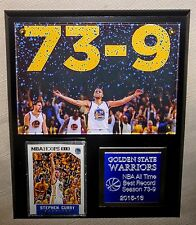 Golden State Warriors All Time NBA Basketball Wins In A Season Plaque. 8 x 10