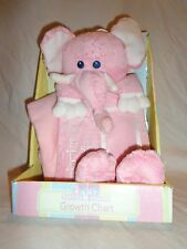 Nursery Baby Soft Expressions Growth Chart Pink Elephant Pictures Plush Toy