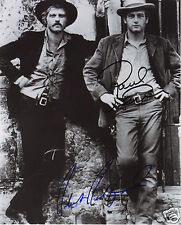BUTCH CASSIDY - ROBERT REDFORD & PAUL NEWMAN AUTOGRAPH SIGNED PP PHOTO POSTER