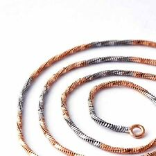 Wave Cute Silver Filled FilledRose gold Plated Chain Necklace