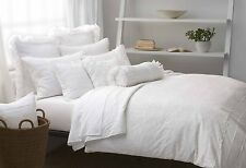 Donna Karan DKNY New Pure Romance King Duvet Cover Porcelain White Cotton ARGO