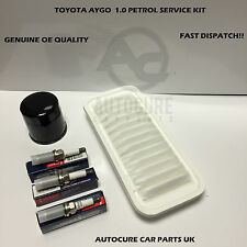 TOYOTA AYGO 1.0 05-12 CITROEN C1 PEUGEOT 107 SERVICE KIT OIL AIR FILTERS +PLUGS