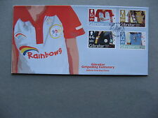 GIBRALTAR, cover FDC 2010, 1oo years girlguiding, scouting