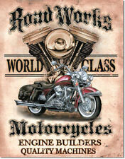 Motorcycles LEGENDS ROAD WORKS World Class Motorcycles Tin Metal Sign